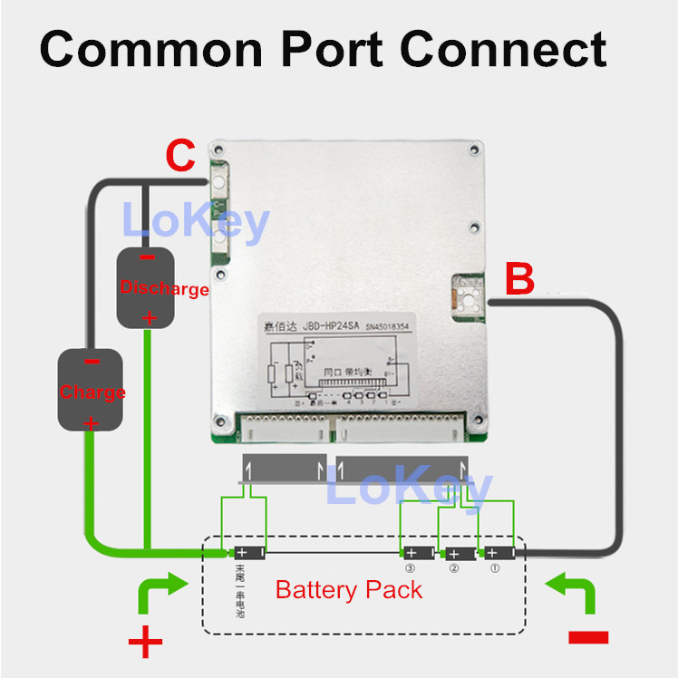 Smart BMS 16S 48V 60V 30A 40A 50A 60A lithium li ion lipo lifepo4 batterie balance conseil port commun BMS avec application Bluetooth - 3