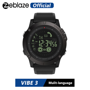 Image 1 - Hot Zeblaze VIBE 3 Flagship Rugged Smartwatch 33 month Standby Time 24h All Weather Monitoring Smart Watch For IOS And Android