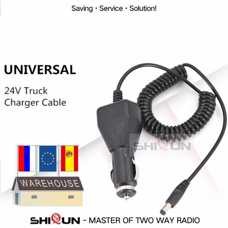 10V-24V Car Charger Cable For Baofeng Walkie Talkie UV-5R UV-9R UV-82 GT-3 Fast Charging Car Charger TG-UV2 Plus Radio Accessory
