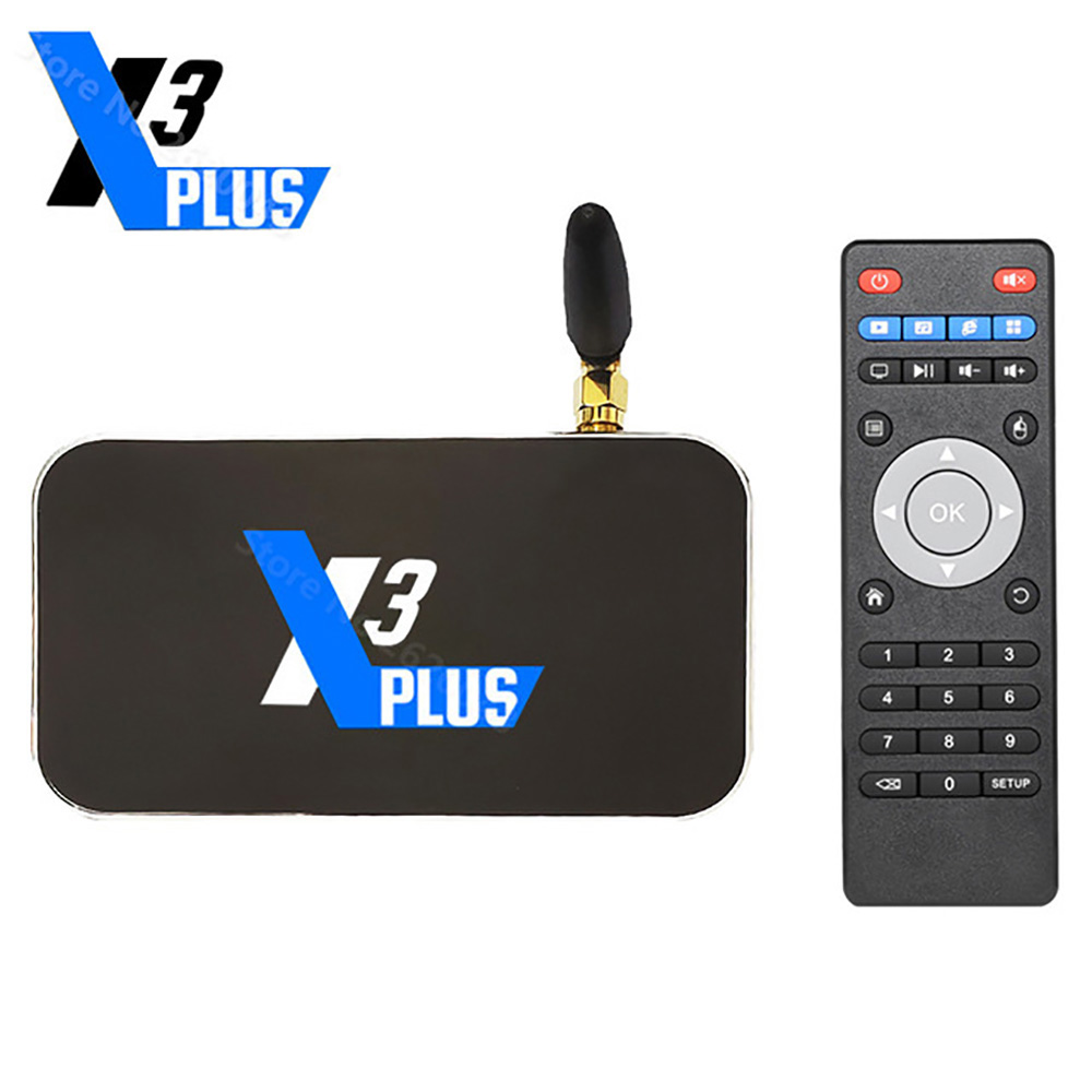 UGOOS X3 Plus Amlogic S905X3 TV BOX DDR4 4GB RAM 64GB ROM 2.4G+5G Wifi 1000M Bluetooth 4K Media Player Android 9.0 Set Top Box