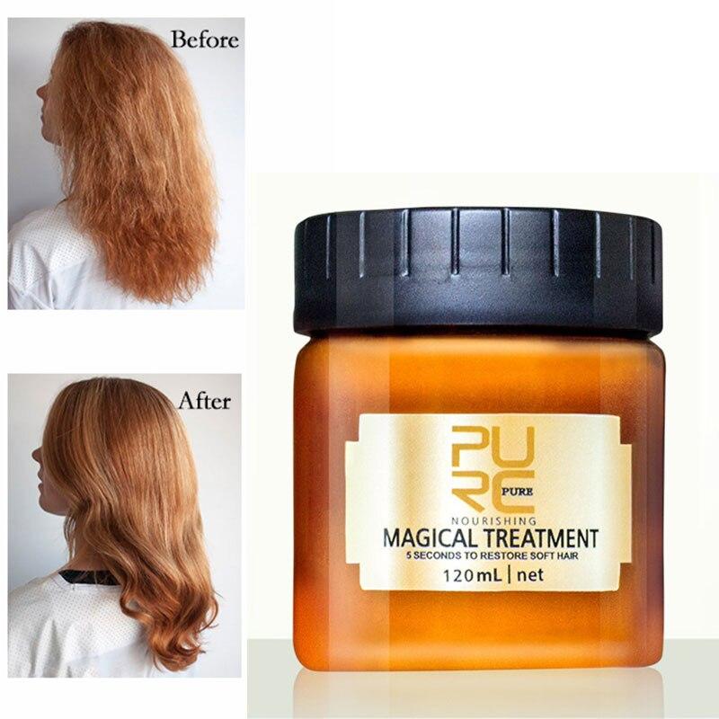 PURC 120ML Magical Keratin Hair Treatment Mask 5 Seconds Repairs Damage Hair Root Hair Tonic Keratin Hair & Scalp Treatment