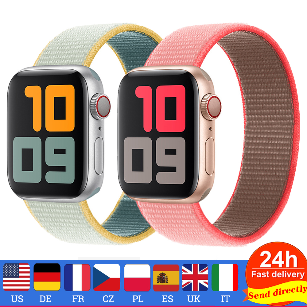 Pride Strap For Apple Watch Band 44 Mm 40mm Iwatch Band 42mm Nylon Loop Bracelet Watchband Belt Correa Apple Watch 5 3 Band 38mm