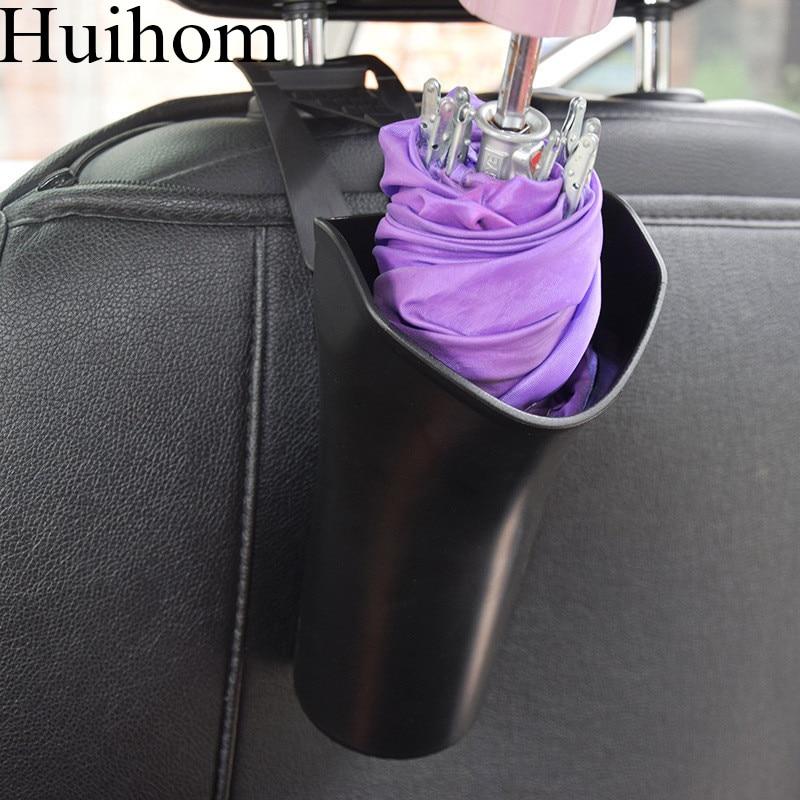 Huihom multi função à prova dwaterproof água guarda-chuva titular caixa de armazenamento organizador do carro banco de trás encosto de cabeça pendurado lixo lata
