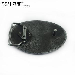Image 4 - Bullzine batı çinko alaşım koşu at kemer tokası kalay kaplama FP 03388 kovboy kot hediye kemer tokası