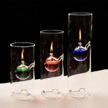 Ручная работа креативная прозрачная стеклянная креативная стеклянная масляная лампа красивый цилиндр свадебный подарок Любовь стеклянная лампа ручной работы