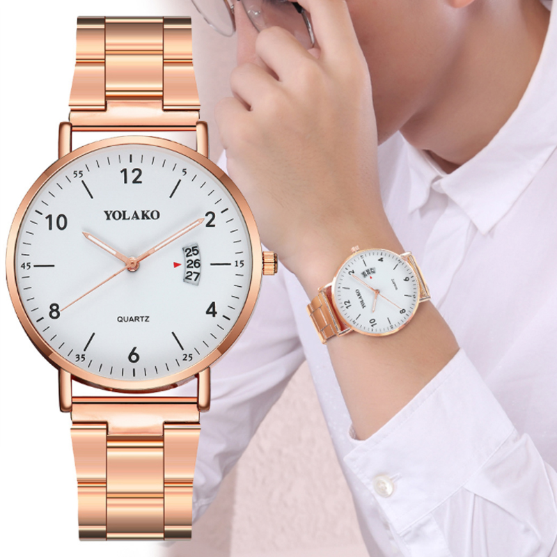 popular Women Watches Top Brand Luxury Fashion Casual Wrist Watch Calendar Quartz Clock Stainless Steel Watchband Women Watch
