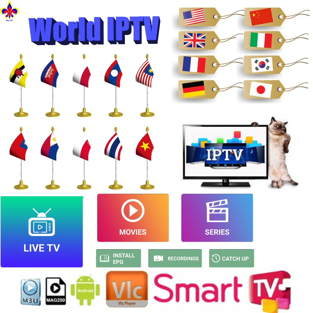 Stable USA IPTV Server 1year Subscription Canada Mexico Latin  Indian UK European MOD Adult Xxx M3u Smart Tv Android