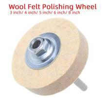 3inch-8inch Wolle Filz Polieren Polieren Runde Rad Wollfilz Polierer Disc Pad Puffer Für Edelstahl/kupfer/Aluminium/Metall