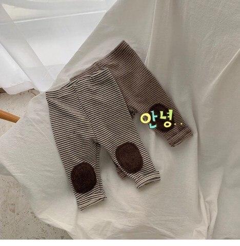 compridas roupas do bebe menino algodao listrado