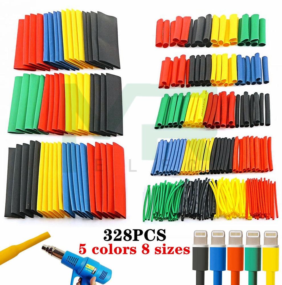 400pcs Heat Shrink Tubing Insulation Shrinkable Tube 2:1 Wire Cable Sleeve Kit