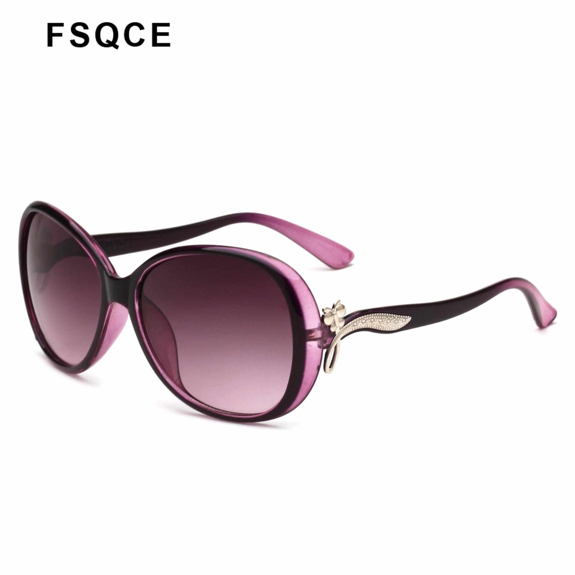 FSQCE ovale lunettes De soleil femmes marque Design Vintage rétro Oculos Lunette De Sol eil Femme lunettes De soleil UV400