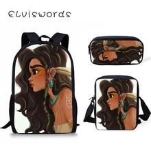 Scool Bag Black Art Afro Girl Backpacks For Teenager Girls  Large School Schoo Queen Travl ранец первоклассникаg