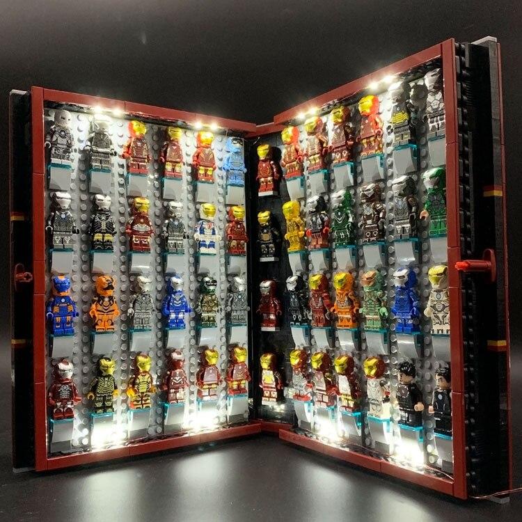 NEW IN STOCK Marvel Avenger Iron Man Legoset Collections Book 52 Figures Building Blocks Toys Memorial Tonny Gifts Lepinblocks