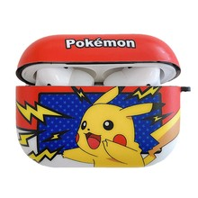 Luxury street brand Cartoon Cute Pikachu Back View Bluetooth Earphone Cover For Apple AirPods Silicone Cases cover(China)