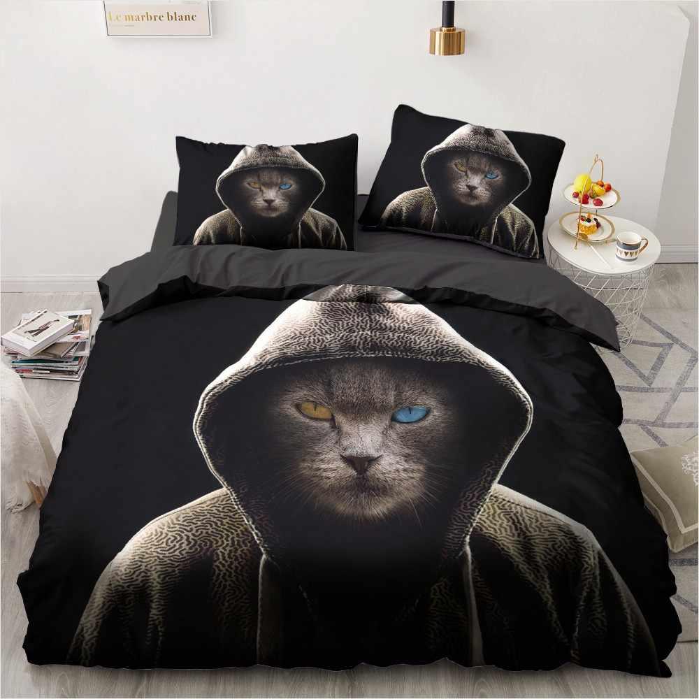 3D Bedding Sets Leopard Custom Duvet Quilt Cover Set Comforter Bed Linen Pillowcase King Queen Full Size 140*210 Home Texitle