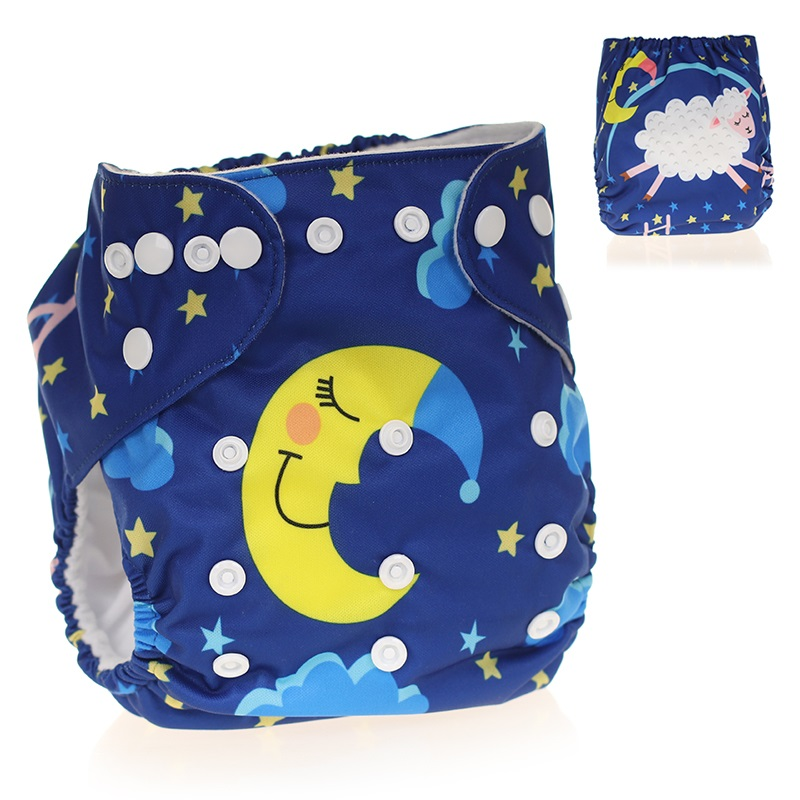 [CHOOEC] 2020 New Design Adjustable Size Baby Washable Reusable Pocket Cloth Diaper Digital Integrated Flower Pattern Baby Pants