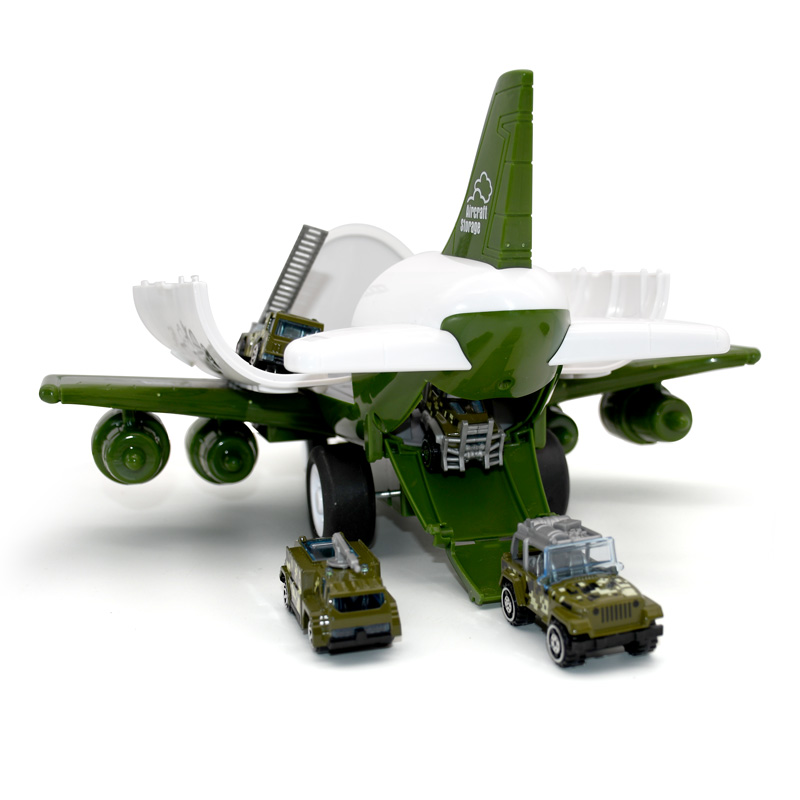 Children's gift airplane toy large storage transport aircraft with alloy truck truck vehicle