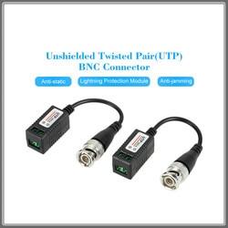 2pcs High Definition AHD HD CVI HDTVI BNC To UTP Cat5 Video Balun Passive Transceivers Adapter Transmitter 300m LCC Anpwoo 202A