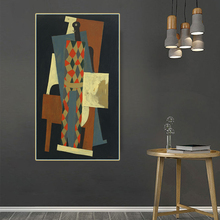 Citon Pablo Picasso《Harlequin,1915》Canvas Art Oil Painting Artwork Poster Picture Modern Wall Decor Home Living room Decoration duchting hajo pablo picasso