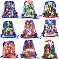 30 шт сумки AvengersParty для детей день рождения нетканый тканевый рюкзак детская дорожная школьная сумка Украшение на шнурке подарочная сумка