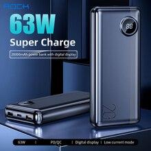 ROCK 20000mAh laptop Power Bank batterie externe PD 63W Fast