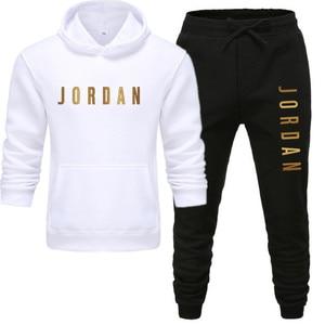 Men's Jordan 23 letter suit brand sportswear sportswear suit men's sports Hoodie + pants suit casual sportswear men's Hoodie
