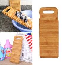 1pc placa de lavanderia durável antiderrapante casa engrossado placa de lavanderia de lavagem de madeira de bambu