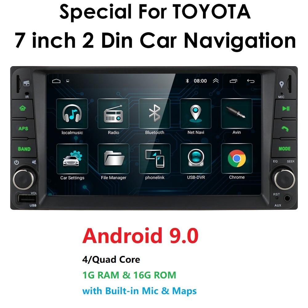 Автомобильный Android 9,0 мультимедиа для toyota corolla 2 Din Универсальное автомобильное радио с навигацией Bluetooth Wifi автомобильный стерео gps плеер
