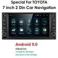 Auto Android 9,0 multimedia für toyota corolla 2 Din Universal autoradio mit navigation Bluetooth Wifi auto stereo gps-player