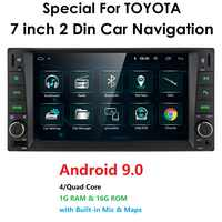 car Android 9.0 multimedia for toyota corolla 2 Din Universal car radio with navigation Bluetooth Wifi car stereo gps player