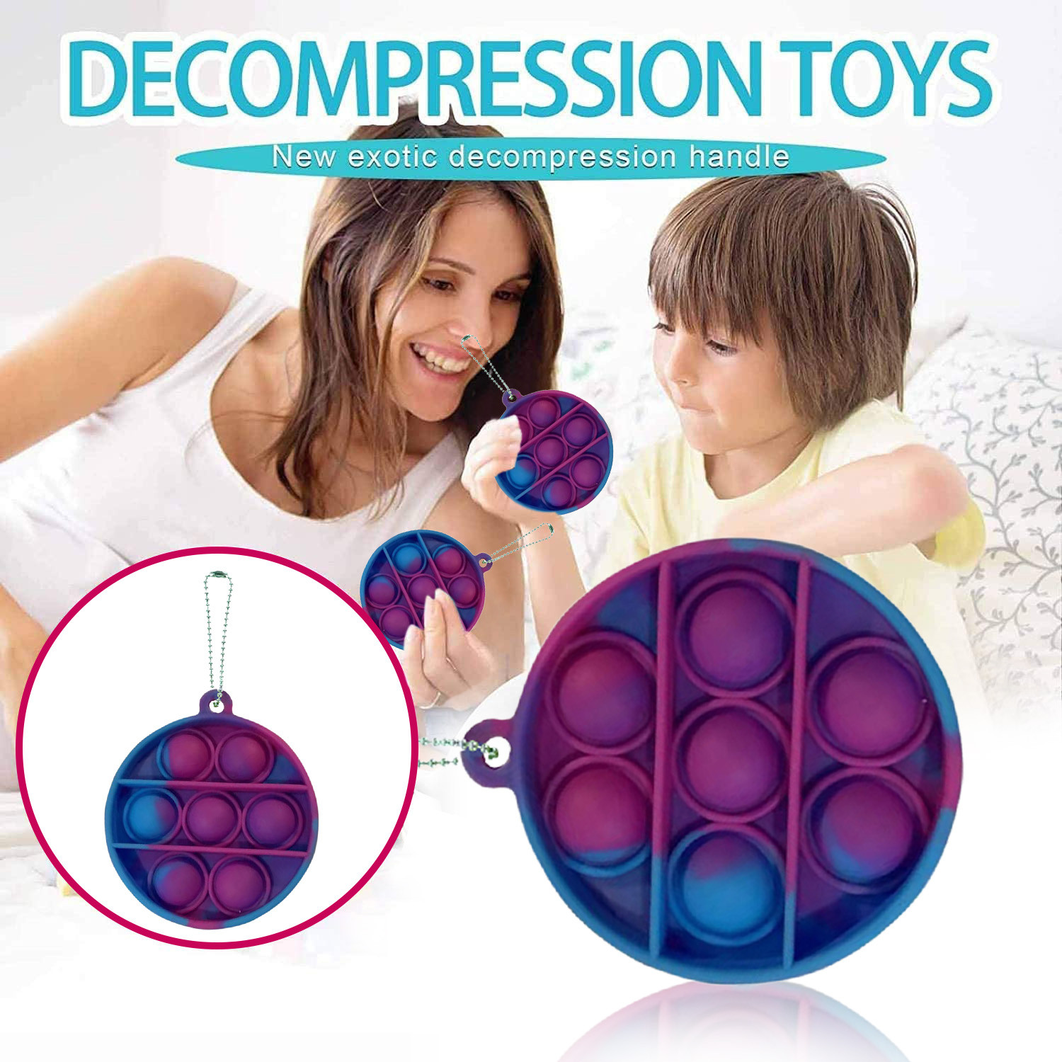 Toys Adult Bubble-Sensory-Toy Autism Fidget Reliver-Stress Funny Squishy Push-Pop Pop-It