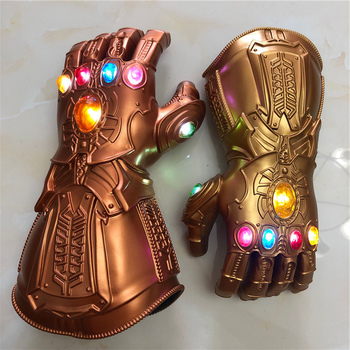 1: 1 LED Light  Thanos  Gauntlet  War Cosplay LED Gloves Halloween Costume Gift Props led light thanos infinity gauntlet avengers infinity war cosplay led gloves pvc action figure model toys gift halloween props