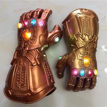 1 1 LED Light Thanos Gauntlet War Cosplay LED rękawiczki kostium na halloween prezent rekwizyty tanie tanio Broń Armor Unisex