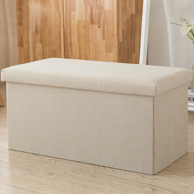 Rectangular Storage Stool Can Sit Adult Sofa Stool Household Storage Chair Folding Storage Box