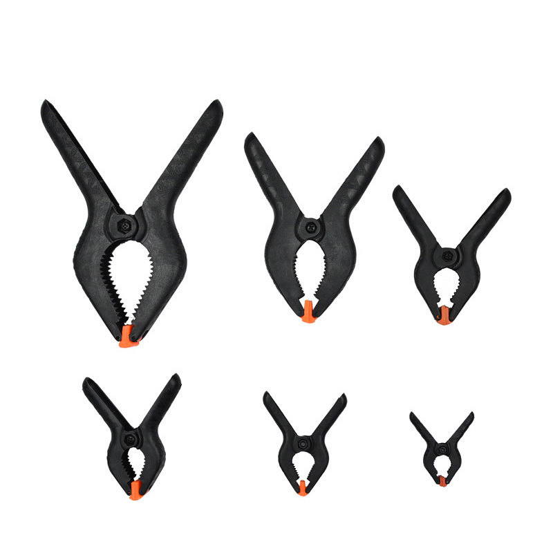 DIY Woodworking Grip 2 Inch Toggle Clamps Spring Clip Lot Hard Plastic 6 Pcs/Set Clips W/ Different Size Home Garden Hand Tools