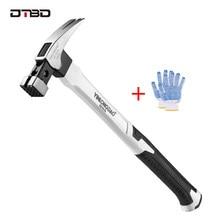 DTBD – marteau à griffes magnétique pour le travail du bois, outil à main multifonction en acier antidérapant et résistant aux chocs