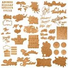 Happy Birthday Thank You Love Believe Make Today Count Hot Foil Plate for DIY Scrapbooking Letterpress Embossing Cards Crafts