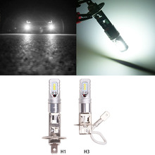 цена на H3 Led Bulbs for Fog Lights 80W Aluminum Front Foglight LED Replacement Bulbs H1 H3 Car Led Light Running Lights White