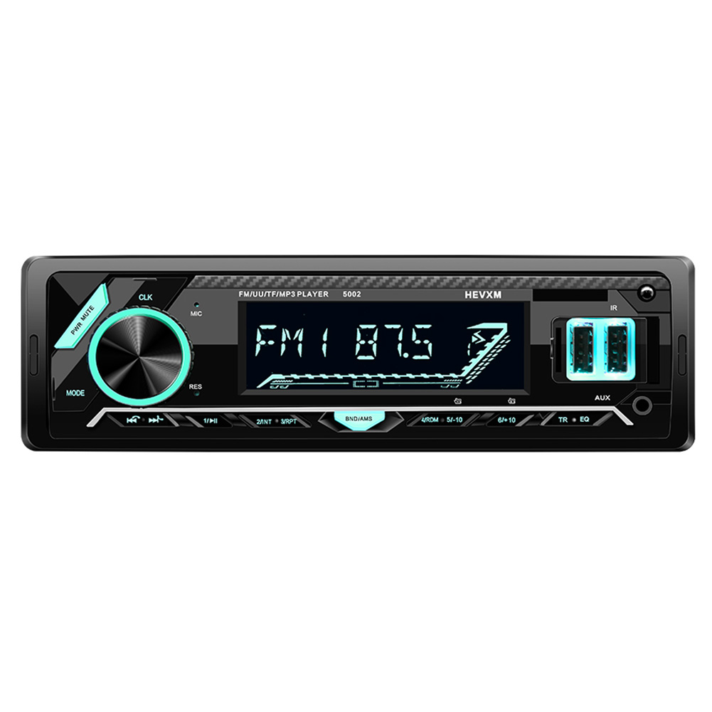 Single DIN Car Radio Digital Media Receiver 1 DIN Bluetooth USB Auto Stereo Head Unit with Built-in Mic Support App Control