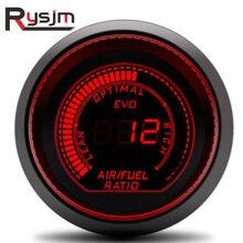 12 В 52 мм цифровой датчик соотношения воздушного топлива Автоматический цифровой светодиодный светильник двойной дисплей Автомобильные приборы EVO синий красный задний светильник газовый счетчик автомобиля