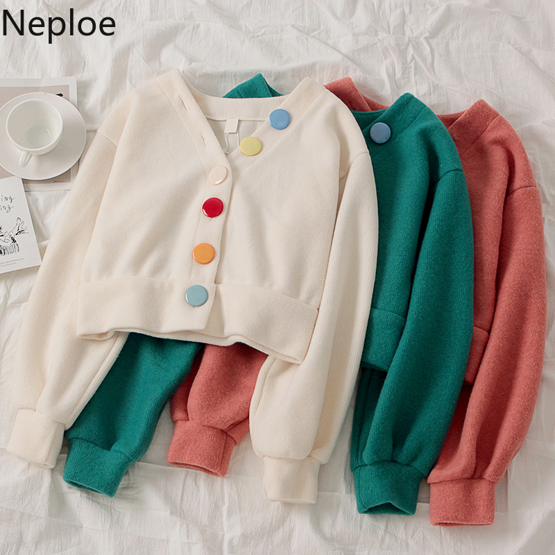 Neploe Fashion Vintage Cardigan Women Single Breasted Long Sleeve Knitted Sweaters Ladies Jumper Candy Colors Button Coat 1A051|Куртки|   | АлиЭкспресс