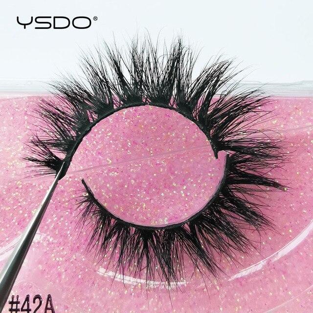 YSDO 1 Pair 3D Mink Eyelashes Cruelty Free Lashes Fluffy Full Strip Thick False Eyelashes Cils Makeup Dramatic Real Mink Lashes 4