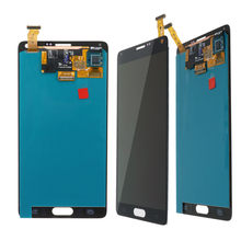 100% super amoled para samsung galaxy note 4 note4 n910c n910 n910a n910f lcd screen display toque digitador assembléia substituição(China)