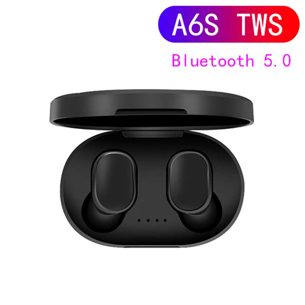 A6S TWS Bluetooth 5.0 Earphone Noise Cancelling fone Headset With Mic Handsfree Earbuds for Xiaomi Redmi Airdots Wireless Earbud