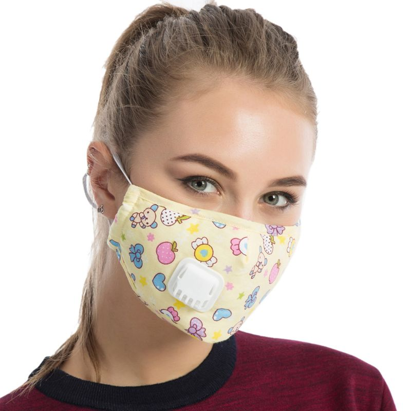 Men Unisex Winter Cotton PM2.5 Mouth Mask   Cartoon  Printed Anti Dust Pollution LX9E