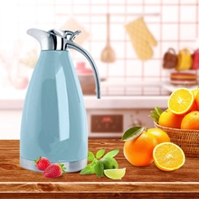 2L Stainless Steel Coffee Thermal Carafe/Double Walled Vacuum Insulated/24 Hour Heat Retention(Blue)