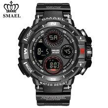 SMAEL – montre de sport pour hommes, numérique, étanche, en Silicone, haut de gamme, luxe, armée, plein air