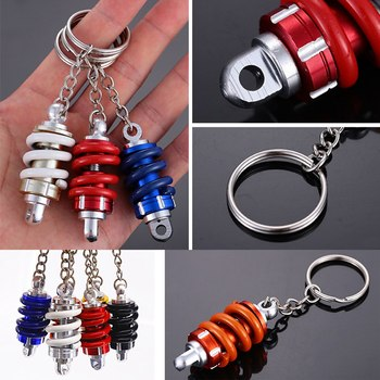 11.5*3cm Motorcycle Modified Shock Absorber Keychain Shock Absorber Keyring Hock Absorber Key Chain 1 Pcs Alloy Metal image