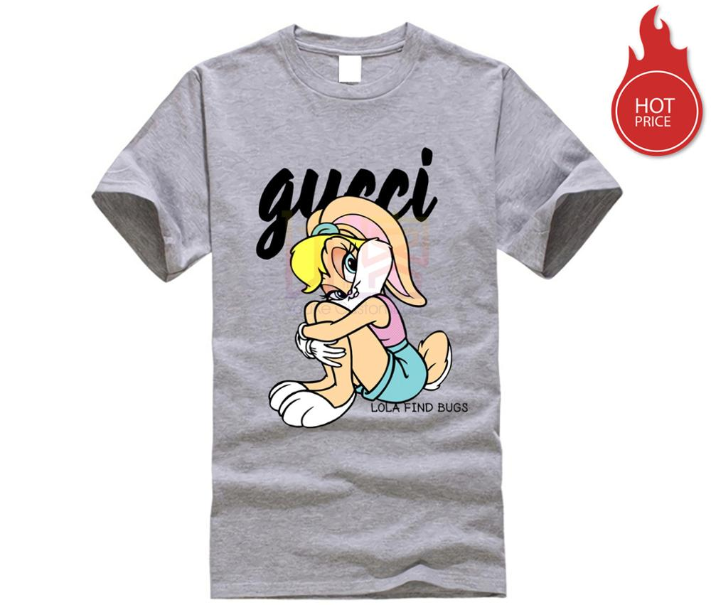 Guccy Lola Bunny T-Shirt Men's T-Shirt 2019 New Bugs Lola Bunny Spank Cartoon Punishment Men T Shirt