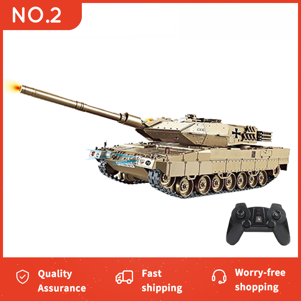 RC Tank Military War Battle United States M1 Leopard 2 Remote Control Toy Car Tactical Model Electronic Boy Toys Children
